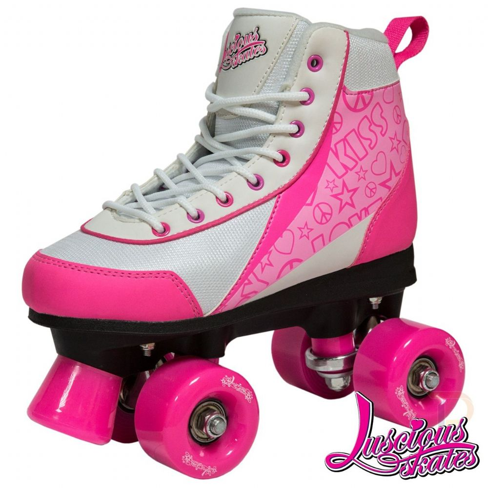 Luscious Retro Quad Skates - Strawberry Kiss
